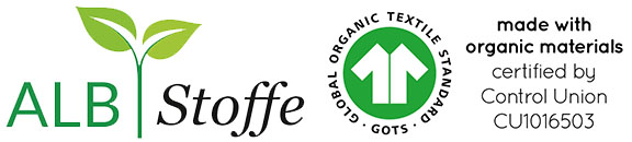 Global Organic Textile Standard (GOTS) - made with organic materials
